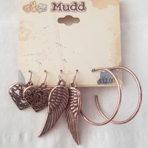 Copper Earring Trio